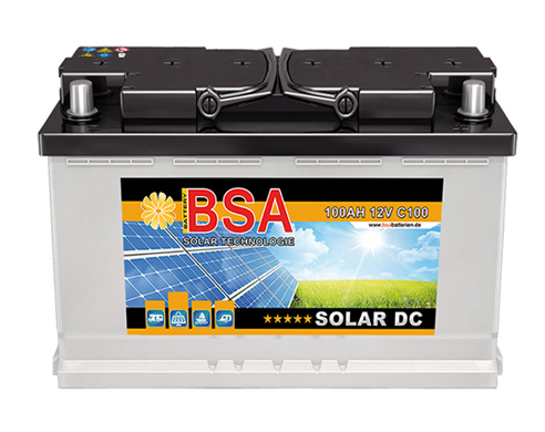bsa solarbatterie 12v 120ah c100 wohnmobil versorgungsbatterie antrieb batterie. Black Bedroom Furniture Sets. Home Design Ideas