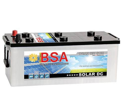 bsa solarbatterie 100ah 12v usv wohnmobil boot schiff. Black Bedroom Furniture Sets. Home Design Ideas